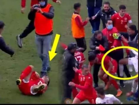 فيديو شغب و أحدث لا رياضية بين تونس و ليبيا للشباب بطولة شمال أفريقيا