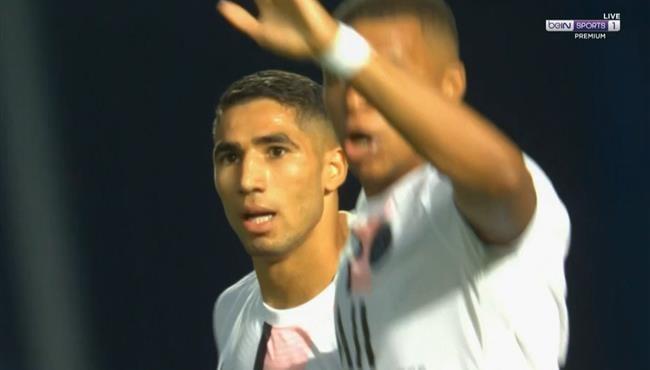 حكيمي يسجل أول هدف ,هدف حكيمي مع باريس سان جيرمان ,هدف أشرف حكيمي, But achraf hakimi, goal achraf hakimi, hakimi psg