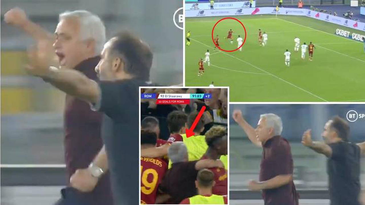 فرحة مورينيو, فرحة جوزي مورينيو, جنون جوزي مورينيو, جنون مورينيو, احتفال جوزي مورينيو, احتفال مورينيو, روما, José Mourinho, AS roma